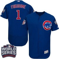 Chicago Cubs #1 Kosuke Fukudome Blue Flexbase Authentic Collection 2016 World Series Bound Stitched Baseball Jersey