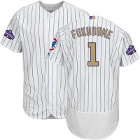 Chicago Cubs #1 Kosuke Fukudome White(Blue Strip) Flexbase Authentic 2017 Gold Program Stitched MLB Jersey