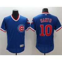 Chicago Cubs #10 Ron Santo Blue Flexbase Authentic Collection Cooperstown Stitched Baseball Jersey