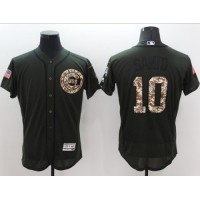 Chicago Cubs #10 Ron Santo Green Flexbase Authentic Collection Salute to Service Stitched Baseball Jersey