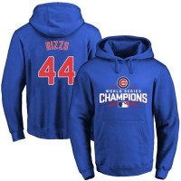 Chicago Cubs #44 Anthony Rizzo Blue 2016 World Series Champions Pullover Baseball Hoodie