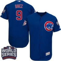 Chicago Cubs #9 Javier Baez Blue Flexbase Authentic Collection 2016 World Series Bound Stitched Baseball Jersey