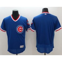 Chicago Cubs Blank Blue Flexbase Authentic Collection Cooperstown Stitched Baseball Jersey