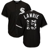 Chicago White Sox #15 Brett Lawrie Black Team Logo Fashion Stitched MLB Jersey