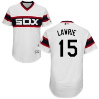 Chicago White Sox #15 Brett Lawrie White Flexbase Authentic Collection Alternate Home Stitched MLB Jersey