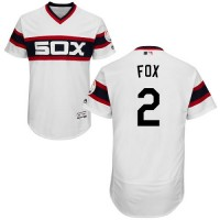 Chicago White Sox #2 Nellie Fox White Flexbase Authentic Collection Alternate Home Stitched MLB Jersey