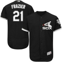 Chicago White Sox #21 Todd Frazier Black Flexbase Authentic Collection Stitched MLB Jersey