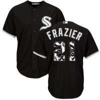 Chicago White Sox #21 Todd Frazier Black Team Logo Fashion Stitched MLB Jersey