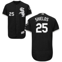 Chicago White Sox #25 James Shields Black Flexbase Authentic Collection Stitched MLB Jersey