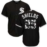 Chicago White Sox #25 James Shields Black Team Logo Fashion Stitched MLB Jersey