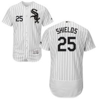 Chicago White Sox #25 James Shields White(Black Strip) Flexbase Authentic Collection Stitched MLB Jersey