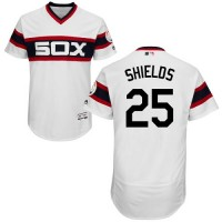 Chicago White Sox #25 James Shields White Flexbase Authentic Collection Alternate Home Stitched MLB Jersey