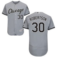 Chicago White Sox #30 David Robertson Grey Flexbase Authentic Collection Stitched MLB Jersey