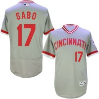 Cincinnati Reds #17 Chris Sabo Grey Flexbase Authentic Collection Cooperstown Stitched Baseball Jersey
