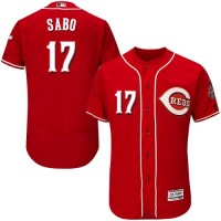 Cincinnati Reds #17 Chris Sabo Red Flexbase Authentic Collection Stitched MLB Jersey