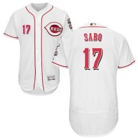 Cincinnati Reds #17 Chris Sabo White Flexbase Authentic Collection Stitched MLB Jersey