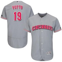 Cincinnati Reds #19 Joey Votto Grey Flexbase Authentic Collection Stitched MLB Jersey