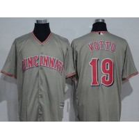 Cincinnati Reds #19 Joey Votto Grey New Cool Base Stitched MLB Jersey
