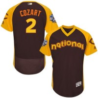 Cincinnati Reds #2 Zack Cozart Brown Flexbase Authentic Collection 2016 All-Star National League Stitched Baseball Jersey