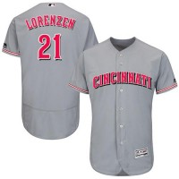 Cincinnati Reds #21 Michael Lorenzen Grey Flexbase Authentic Collection Stitched MLB Jersey