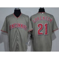 Cincinnati Reds #21 Michael Lorenzen Grey New Cool Base Stitched MLB Jersey