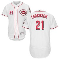 Cincinnati Reds #21 Michael Lorenzen White Flexbase Authentic Collection Stitched MLB Jersey