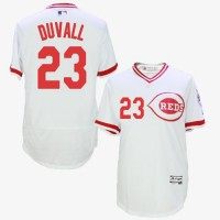 Cincinnati Reds #23 Adam Duvall White Flexbase Authentic Collection Cooperstown Stitched Baseball Jersey
