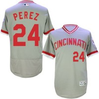 Cincinnati Reds #24 Tony Perez Grey Flexbase Authentic Collection Cooperstown Stitched Baseball Jersey