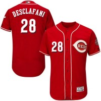 Cincinnati Reds #28 Anthony DeSclafani Red Flexbase Authentic Collection Stitched MLB Jersey