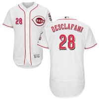 Cincinnati Reds #28 Anthony DeSclafani White Flexbase Authentic Collection Stitched MLB Jersey