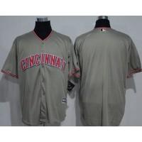 Cincinnati Reds Blank Grey New Cool Base Stitched MLB Jersey