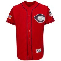 Cincinnati Reds Blank Scarlet Stitched 2016 Fashion Stars & Stripes Flex Base Baseball Jersey