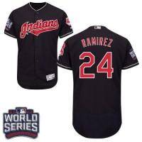 Cleveland Indians #24 Manny Ramirez Navy Blue Flexbase Authentic Collection 2016 World Series Bound Stitched Baseball Jersey
