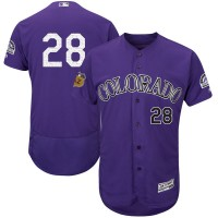 Colorado Rockies #28 Nolan Arenado Purple 2017 Spring Training Flexbase Authentic Collection Stitched Baseball Jersey