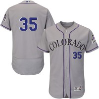 Colorado Rockies #35 Chad Bettis Grey Flexbase Authentic Collection Stitched MLB Jersey