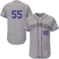Colorado Rockies #55 Jon Gray Grey Flexbase Authentic Collection Stitched MLB Jersey