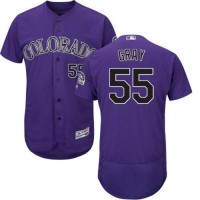 Colorado Rockies #55 Jon Gray Purple Flexbase Authentic Collection Stitched MLB Jersey