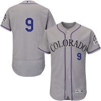 Colorado Rockies #9 DJ LeMahieu Grey Flexbase Authentic Collection Stitched MLB Jersey