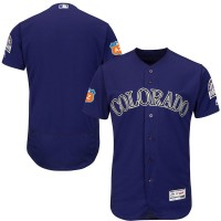 Colorado Rockies Blank Purple 2017 Spring Training Flexbase Authentic Collection Stitched Baseball Jersey