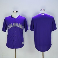 Colorado Rockies Blank Purple New Cool Base Stitched Baseball Jersey