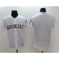 Colorado Rockies Blank White Flexbase Authentic Collection Stitched Baseball Jersey
