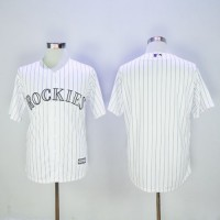 Colorado Rockies Blank White New Cool Base Stitched Baseball Jersey