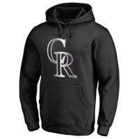 Colorado Rockies Platinum Collection Pullover Hoodie Black