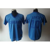 Cubs #10 Ron Santo Blue White Strip Stitched Cooperstown Throwback Baseball Jersey
