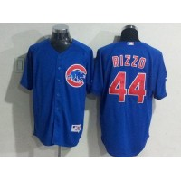 Cubs #44 Anthony Rizzo Blue Cool Base Stitched Baseball Jersey
