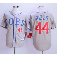 Cubs #44 Anthony Rizzo Grey Alternate Road Cool Base Stitched Baseball Jersey
