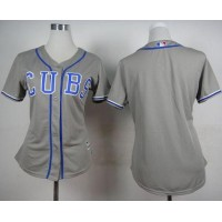 Cubs Blank Grey Alternate Road Women's Stitched Baseball Jersey