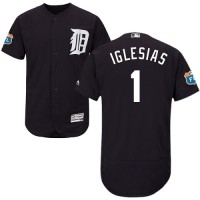 Detroit Tigers #1 Jose Iglesias Navy Blue Flexbase Authentic Collection Stitched MLB Jersey