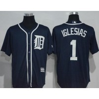 Detroit Tigers #1 Jose Iglesias Navy Blue New Cool Base Stitched MLB Jersey