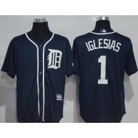Detroit Tigers #1 Jose Iglesias Navy Blue New Cool Base Stitched MLB Jersey